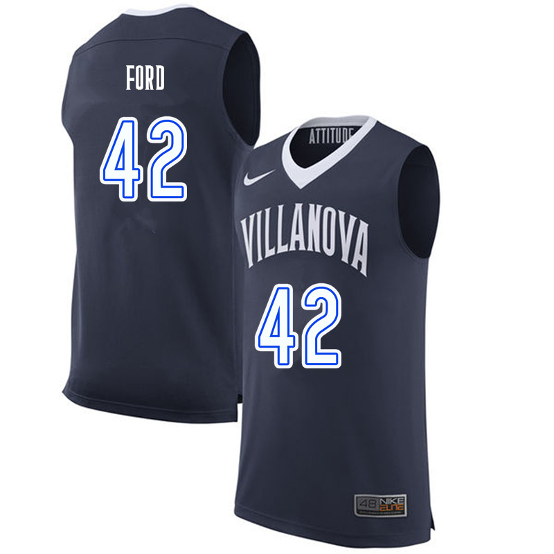 Men #42 Chris Ford Villanova Wildcats College Basketball Jerseys-Navy