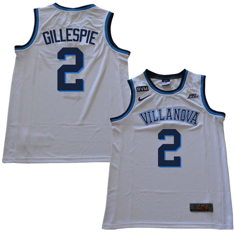 2018 Men #2 Collin Gillespie Willanova Wildcats College Basketball Jerseys Sale-White
