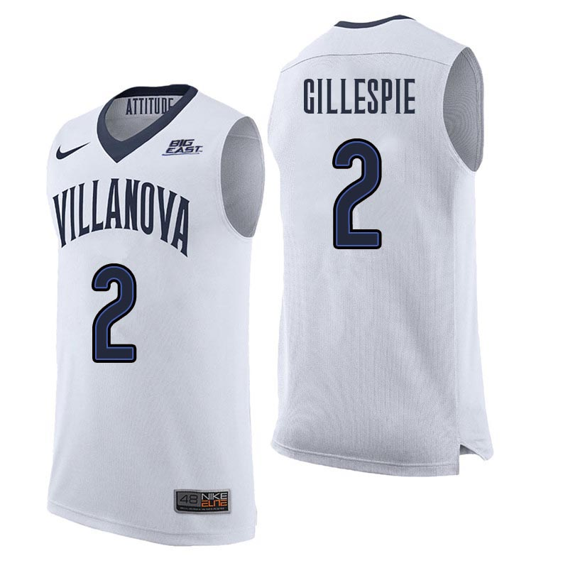 Men Villanova Wildcats #2 Collin Gillespie College Basketball Jerseys Sale-White