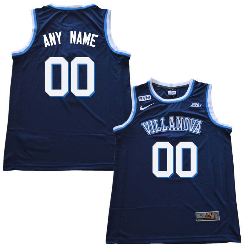 2018 Customs Men Villanova Wildcats College Basketball Jersey Sale-Navy