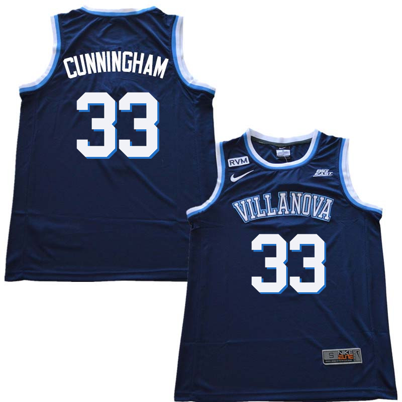 2018 Men #33 Dante Cunningham Willanova Wildcats College Basketball Jerseys Sale-Navy