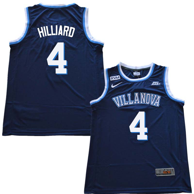 2018 Men #4 Darrun Hilliard Willanova Wildcats College Basketball Jerseys Sale-Navy