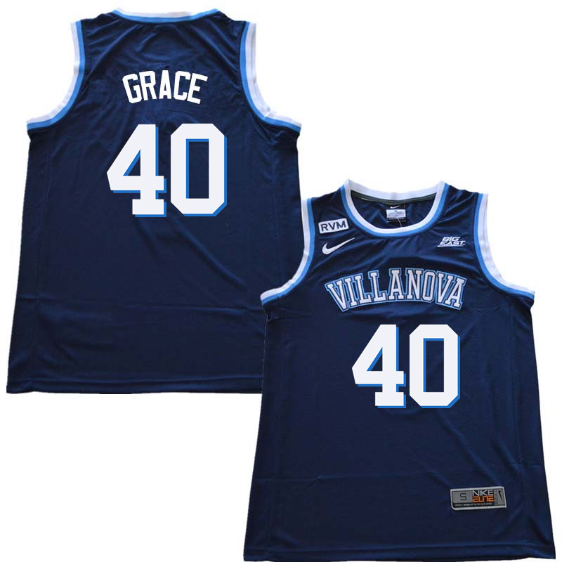 2018 Men #40 Denny Grace Willanova Wildcats College Basketball Jerseys Sale-Navy
