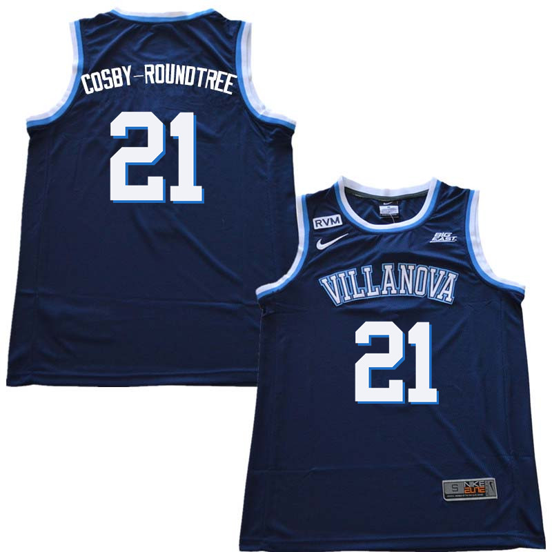 2018 Men #21 Dhamir Cosby-Roundtree Willanova Wildcats College Basketball Jerseys Sale-Navy