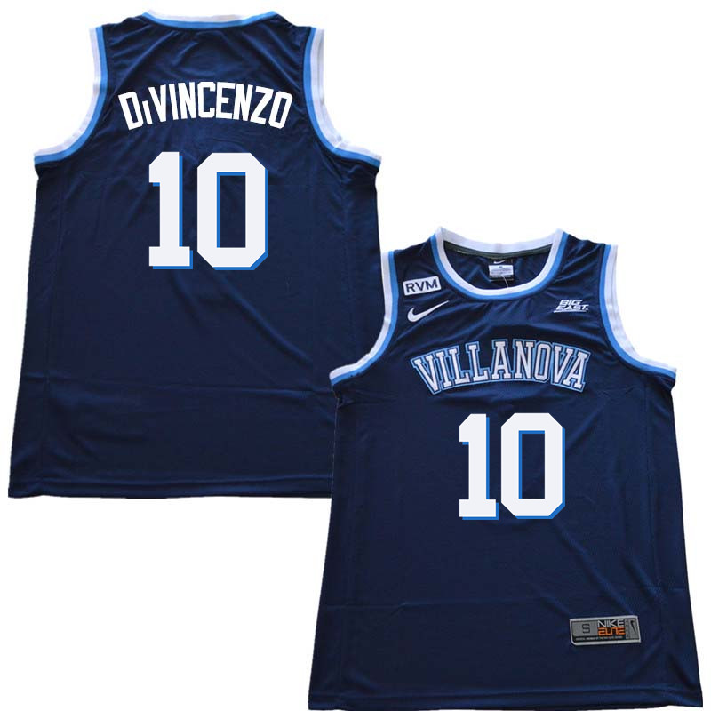 2018 Men #10 Donte DiVincenzo Willanova Wildcats College Basketball Jerseys Sale-Navy