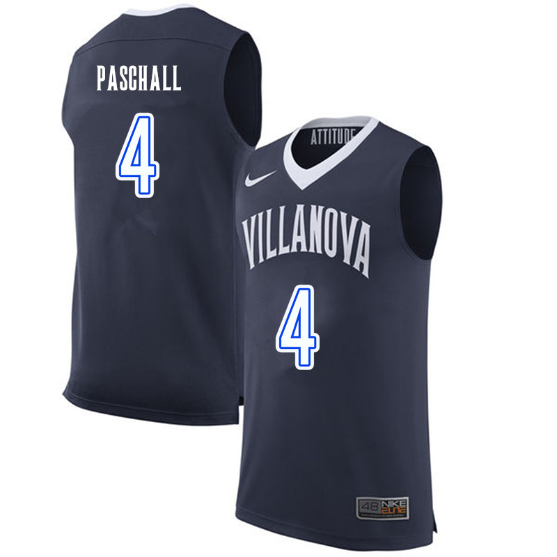 Men #4 Eric Paschall Villanova Wildcats College Basketball Jerseys-Navy