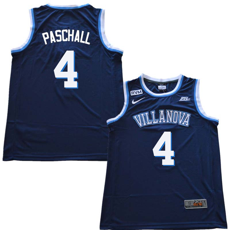 2018 Men #4 Eric Paschall Willanova Wildcats College Basketball Jerseys Sale-Navy