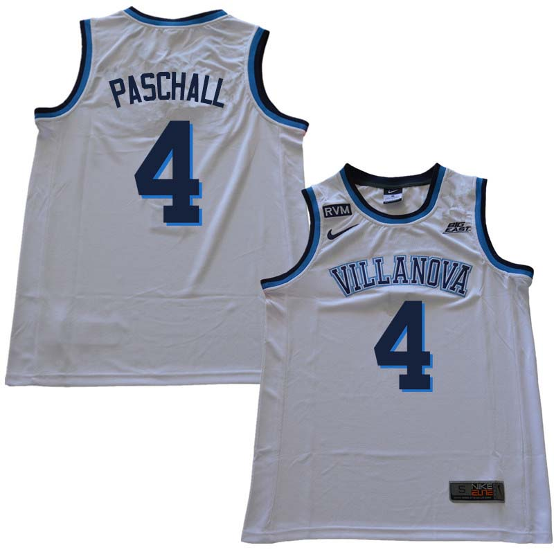2018 Men #4 Eric Paschall Willanova Wildcats College Basketball Jerseys Sale-White