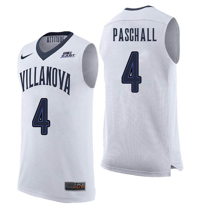 Men Villanova Wildcats #4 Eric Paschall College Basketball Jerseys Sale-White