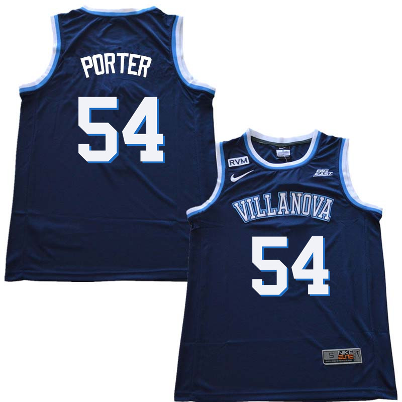 2018 Men #54 Howard Porter Willanova Wildcats College Basketball Jerseys Sale-Navy