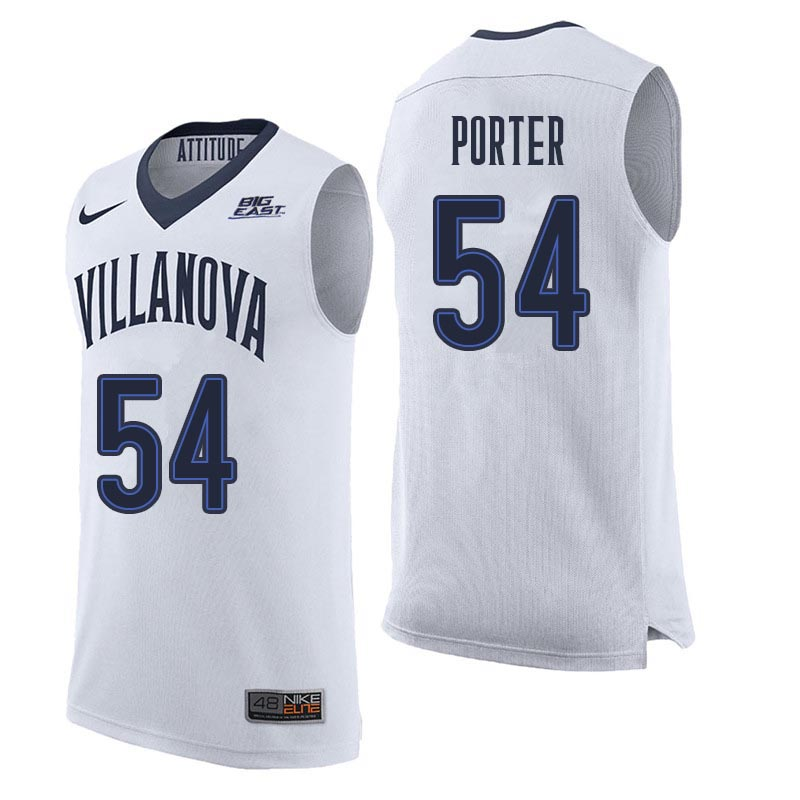 Men Villanova Wildcats #54 Howard Porter College Basketball Jerseys Sale-White