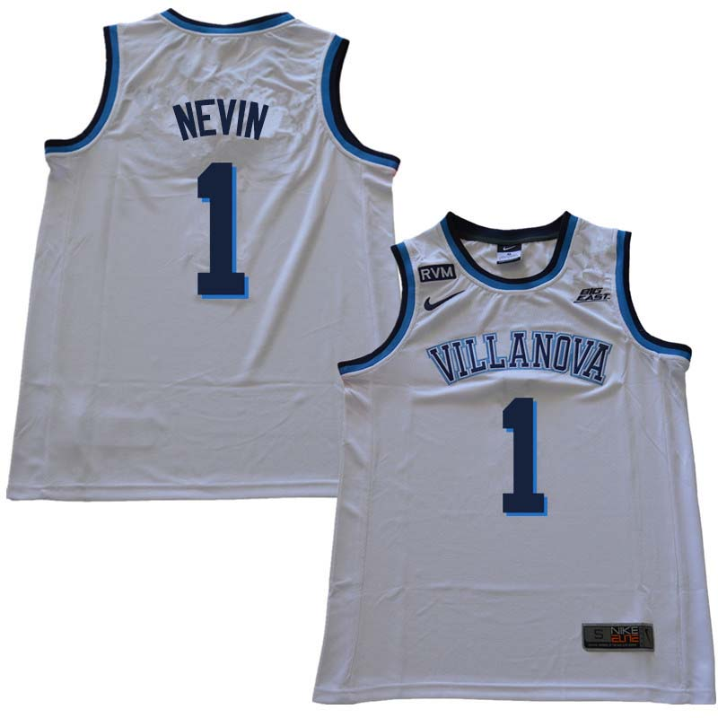 2018 Men #1 Jake Nevin Willanova Wildcats College Basketball Jerseys Sale-White