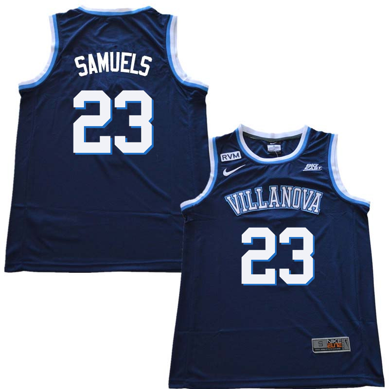 2018 Men #23 Jermaine Samuels Willanova Wildcats College Basketball Jerseys Sale-Navy