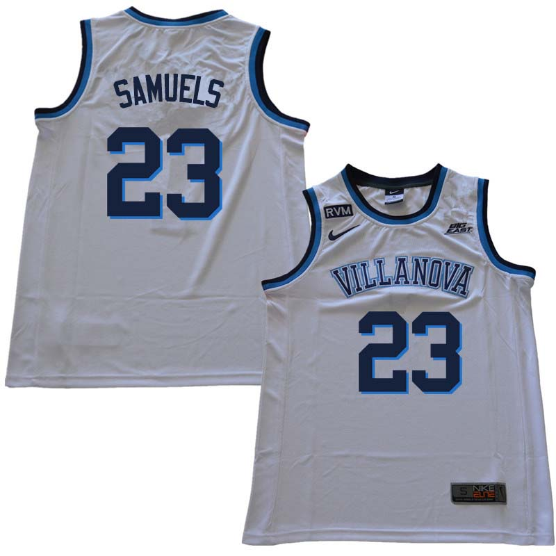 2018 Men #23 Jermaine Samuels Willanova Wildcats College Basketball Jerseys Sale-White