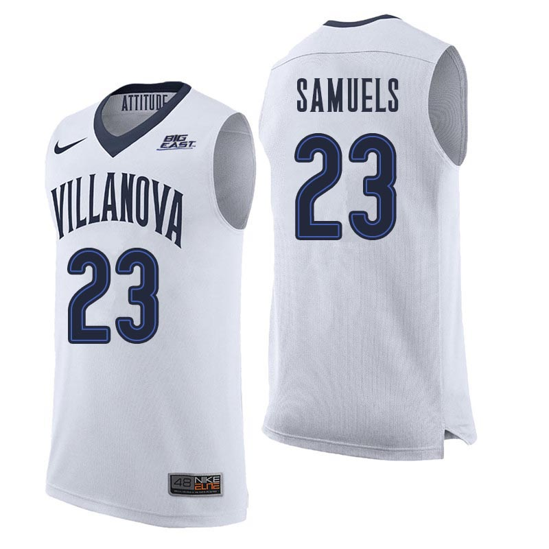 Men Villanova Wildcats #23 Jermaine Samuels College Basketball Jerseys Sale-White