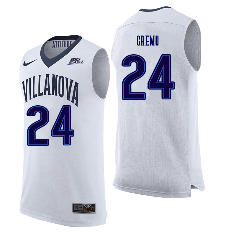 Men #24 Joe Cremo Villanova Wildcats College Basketball Jerseys Sale-White