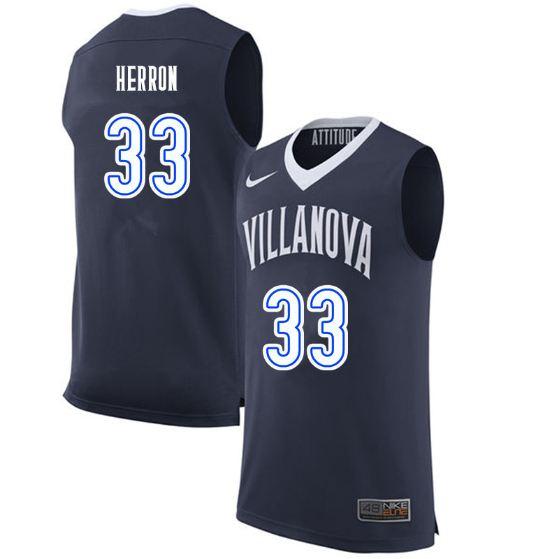 Men #33 Keith Herron Villanova Wildcats College Basketball Jerseys-Navy