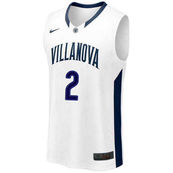 Men #2 Kris Jenkins Villanova Wildcats College Basketball Jerseys Sale-White