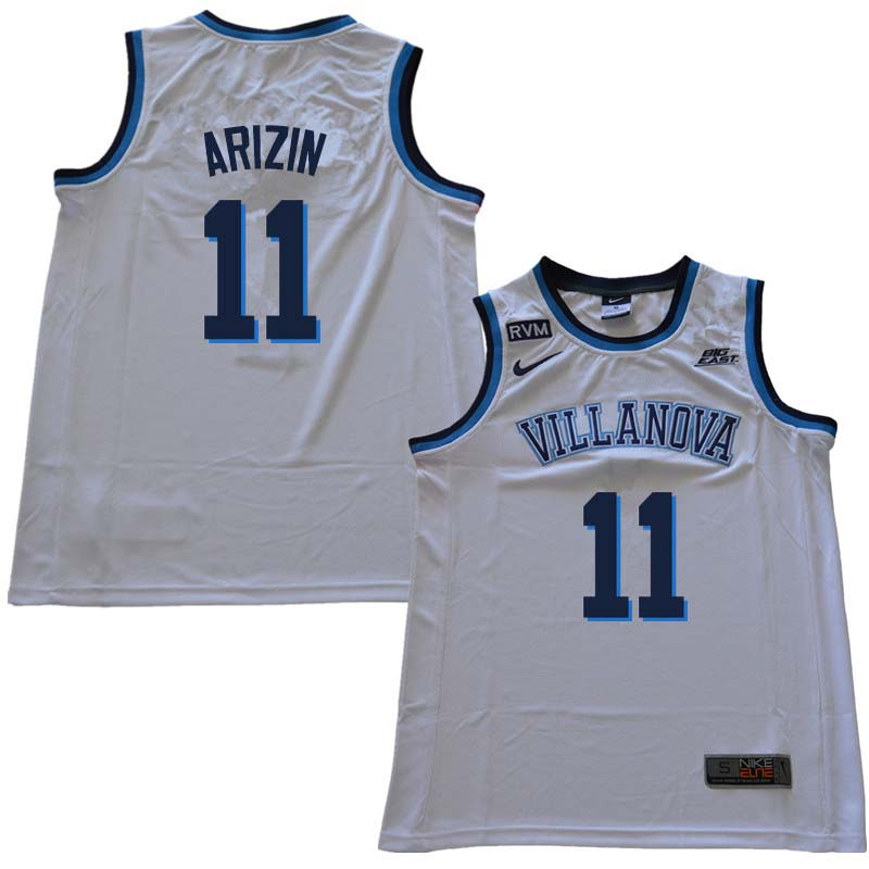2018 Men #11 Paul Arizin Willanova Wildcats College Basketball Jerseys Sale-White
