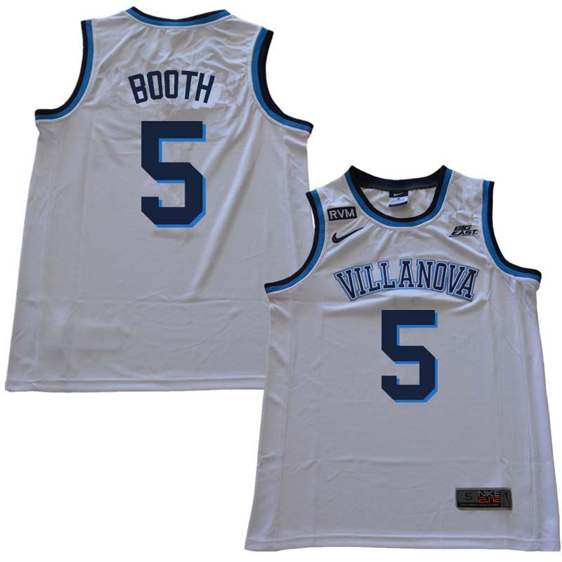 2018 Men #5 Phil Booth Willanova Wildcats College Basketball Jerseys Sale-White