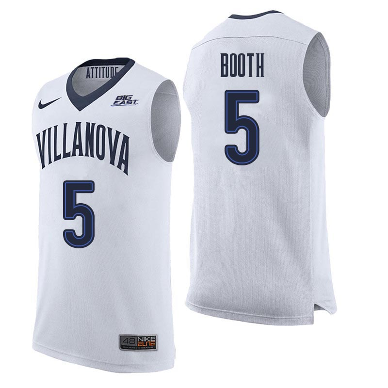 Men Villanova Wildcats #5 Phil Booth College Basketball Jerseys Sale-White