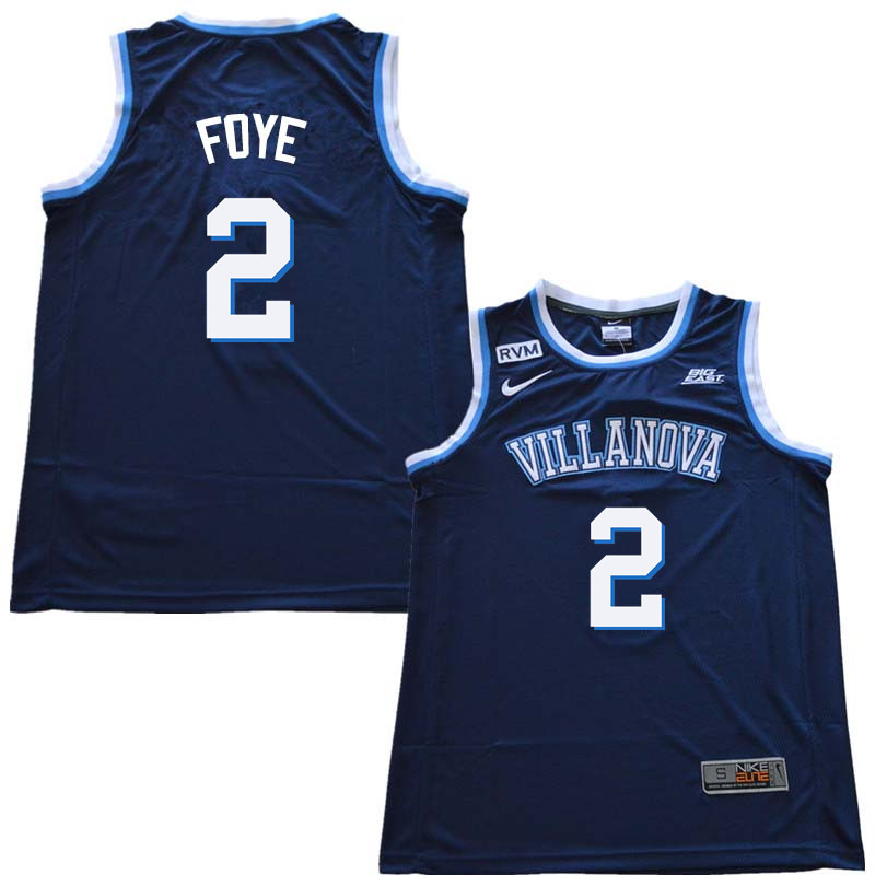 2018 Men #2 Randy Foye Willanova Wildcats College Basketball Jerseys Sale-Navy