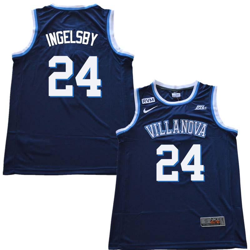 2018 Men #24 Tom Ingelsby Willanova Wildcats College Basketball Jerseys Sale-Navy