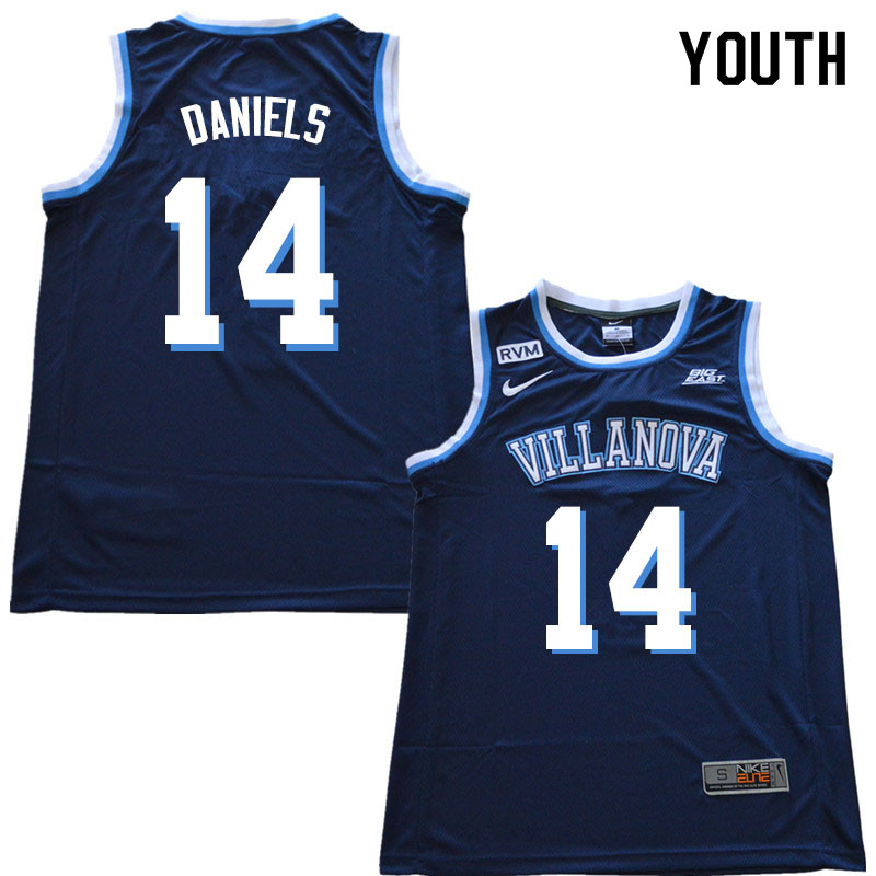 2019 Youth #14 Caleb Daniels Villanova Wildcats College Basketball Jerseys Sale-Navy