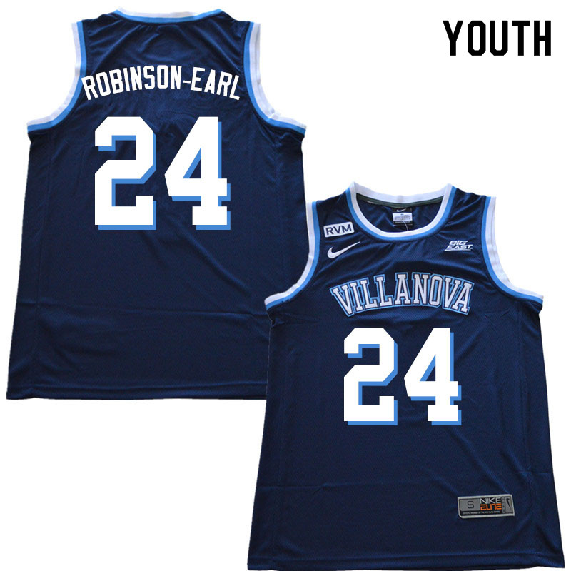 2019 Youth #24 Jeremiah Robinson-Earl Villanova Wildcats College Basketball Jerseys Sale-Navy