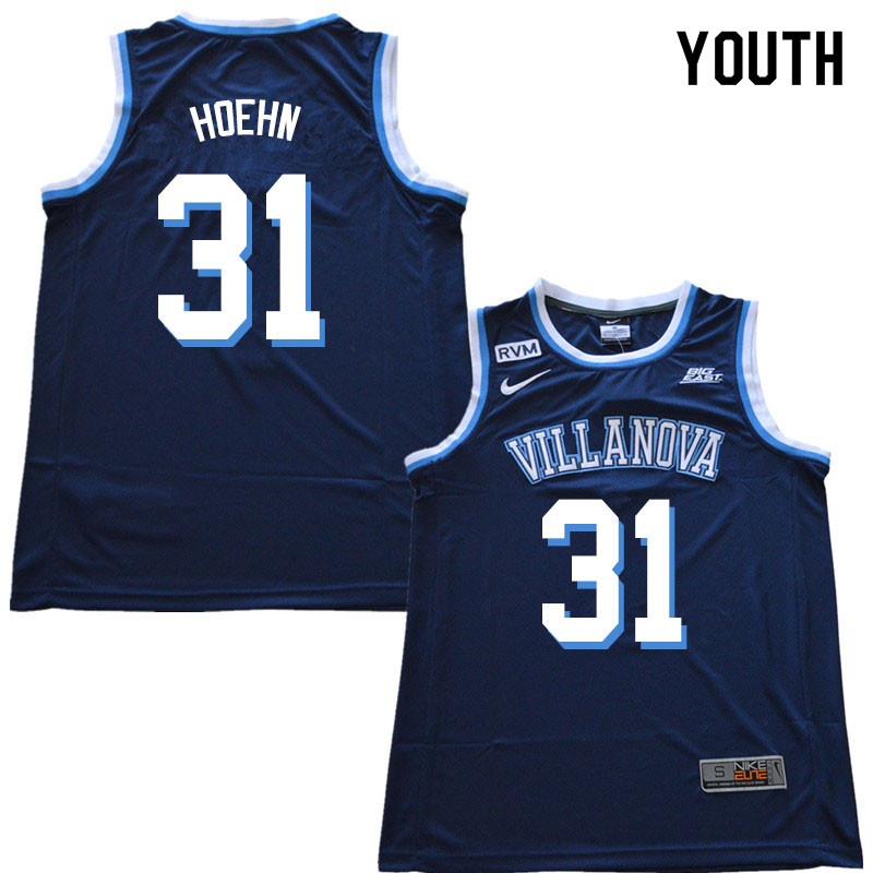 2019 Youth #31 Kevin Hoehn Villanova Wildcats College Basketball Jerseys Sale-Navy