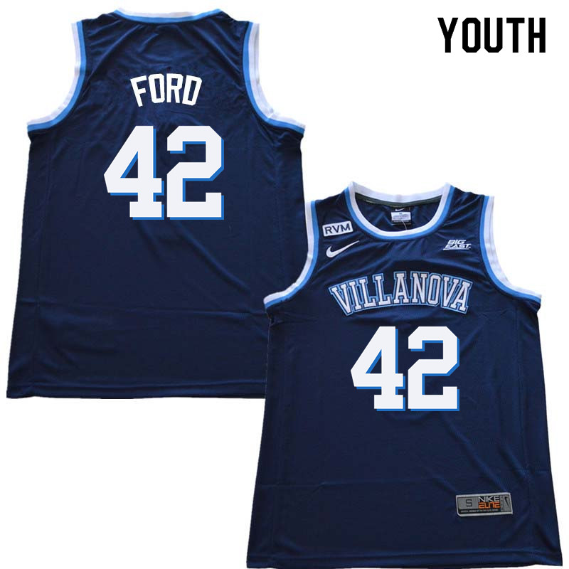 2018 Youth #42 Chris Ford Willanova Wildcats College Basketball Jerseys Sale-Navy