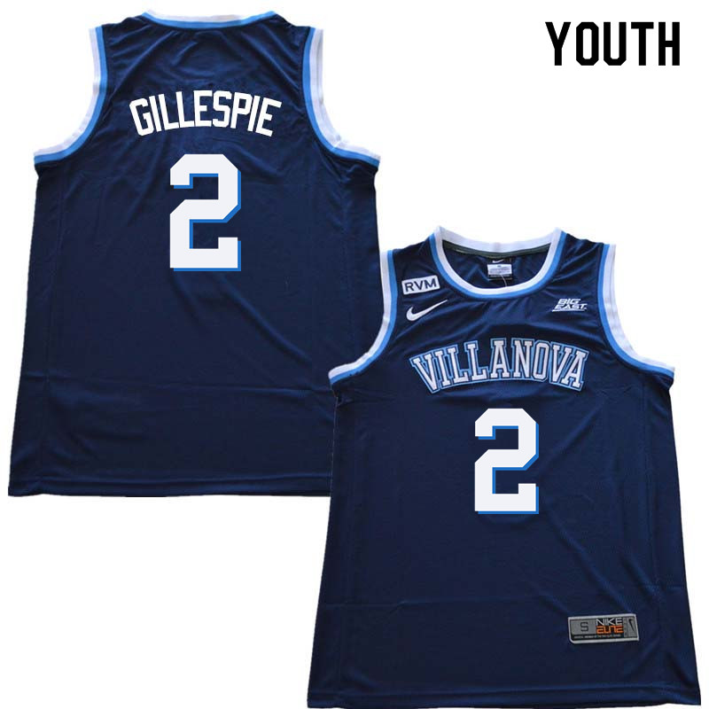2018 Youth #2 Collin Gillespie Willanova Wildcats College Basketball Jerseys Sale-Navy