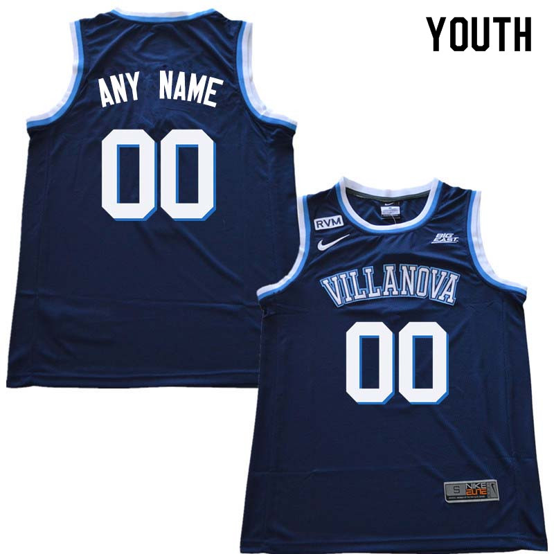 2018 Customs Youth Villanova Wildcats College Basketball Jersey Sale-Navy