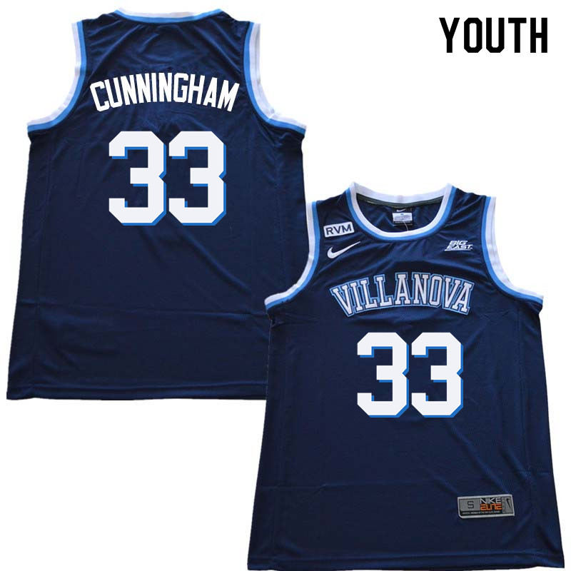 2018 Youth #33 Dante Cunningham Willanova Wildcats College Basketball Jerseys Sale-Navy