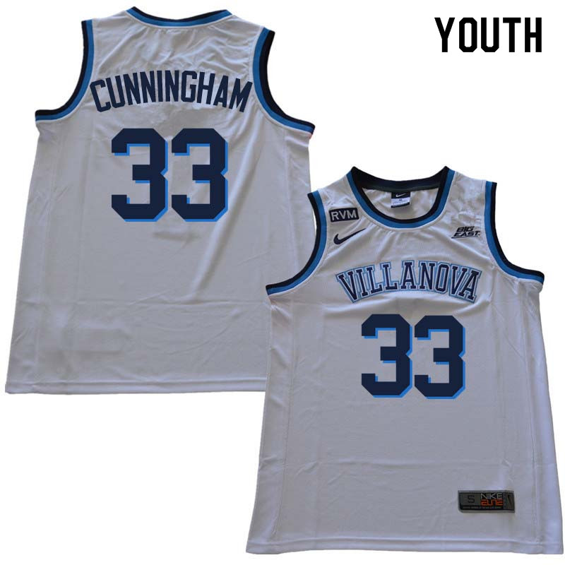 2018 Youth #33 Dante Cunningham Willanova Wildcats College Basketball Jerseys Sale-White