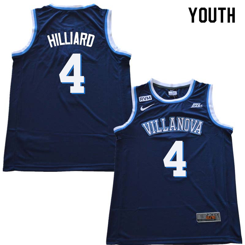 2018 Youth #4 Darrun Hilliard Willanova Wildcats College Basketball Jerseys Sale-Navy