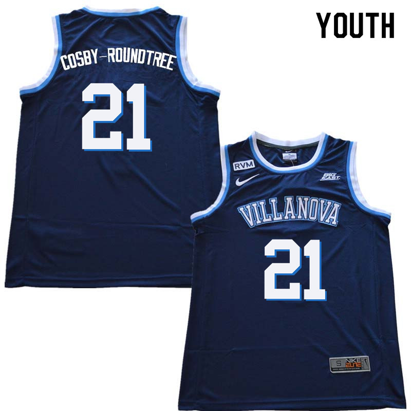 2018 Youth #21 Dhamir Cosby-Roundtree Willanova Wildcats College Basketball Jerseys Sale-Navy