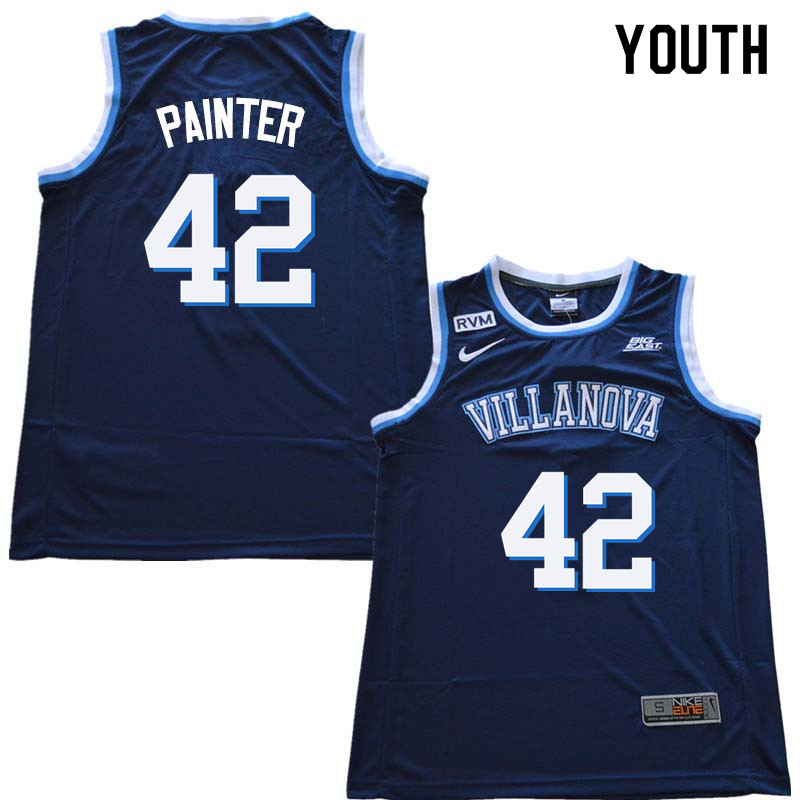 2018 Youth #42 Dylan Painter Willanova Wildcats College Basketball Jerseys Sale-Navy