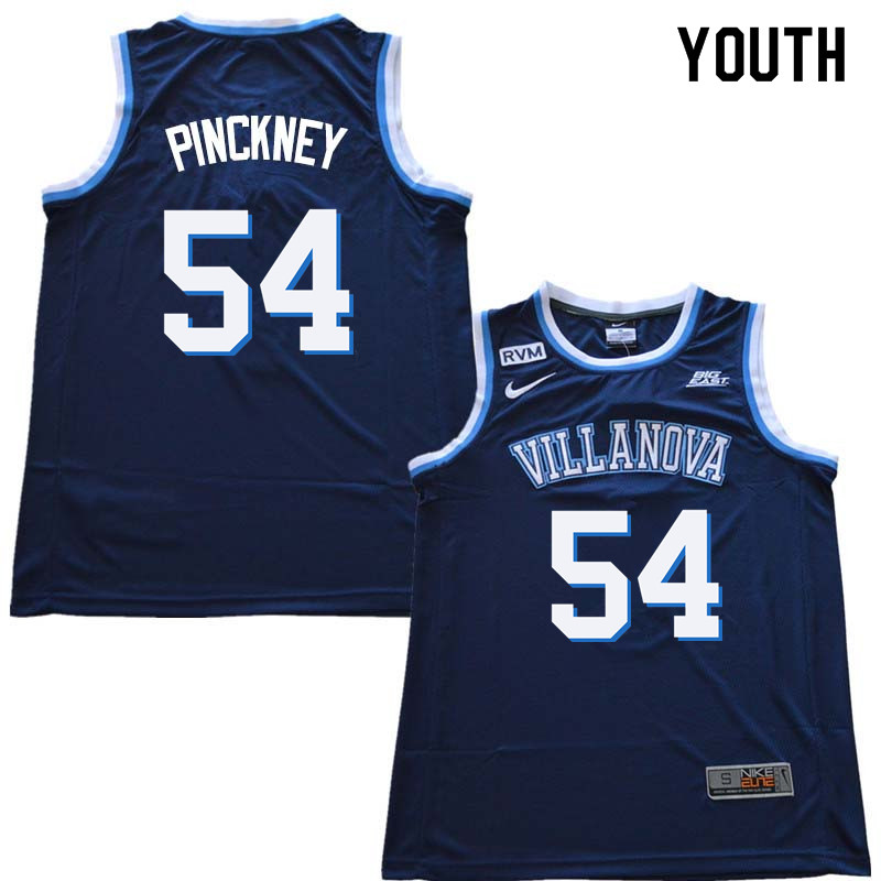 2018 Youth #54 Ed Pinckney Willanova Wildcats College Basketball Jerseys Sale-Navy