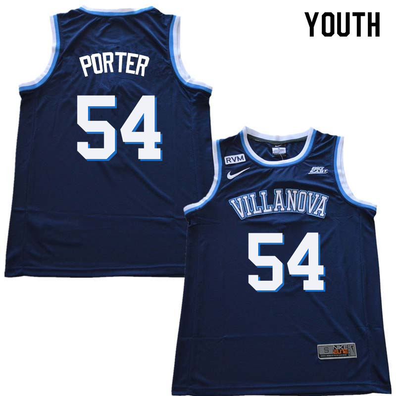 2018 Youth #54 Howard Porter Willanova Wildcats College Basketball Jerseys Sale-Navy