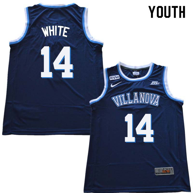 2018 Youth #14 Hubie White Willanova Wildcats College Basketball Jerseys Sale-Navy