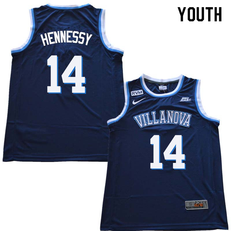2018 Youth #14 Larry Hennessy Willanova Wildcats College Basketball Jerseys Sale-Navy