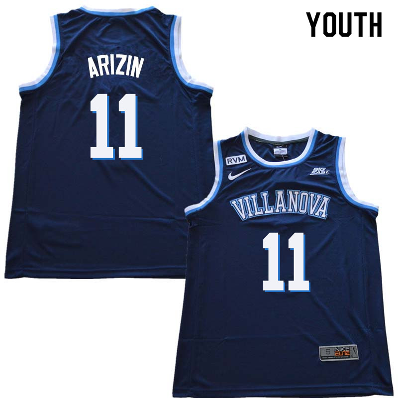 2018 Youth #11 Paul Arizin Willanova Wildcats College Basketball Jerseys Sale-Navy
