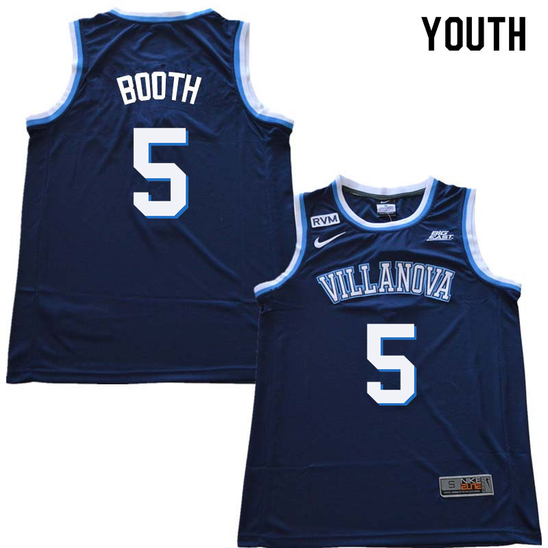 2018 Youth #5 Phil Booth Willanova Wildcats College Basketball Jerseys Sale-Navy