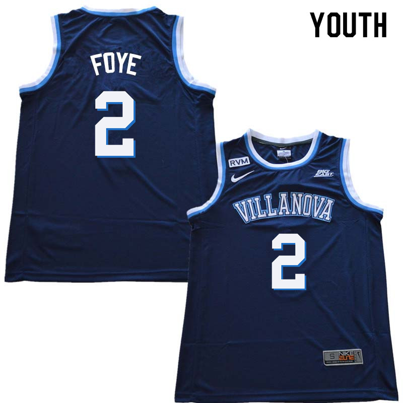 2018 Youth #2 Randy Foye Willanova Wildcats College Basketball Jerseys Sale-Navy