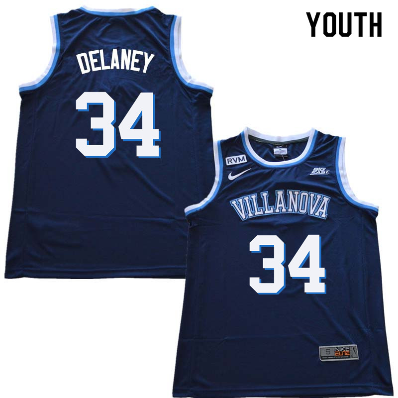 2018 Youth #34 Tim Delaney Willanova Wildcats College Basketball Jerseys Sale-Navy