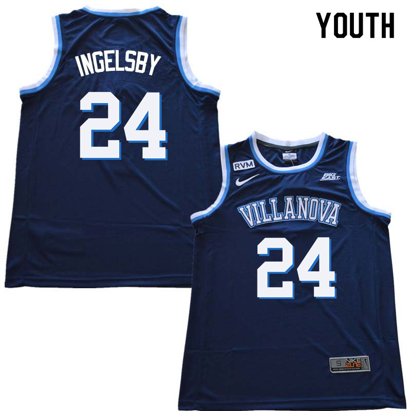 2018 Youth #24 Tom Ingelsby Willanova Wildcats College Basketball Jerseys Sale-Navy
